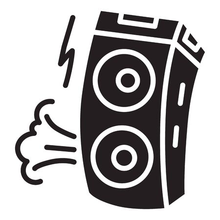 Speaker icon. Simple illustration of speaker vector icon for web design isolated on white background