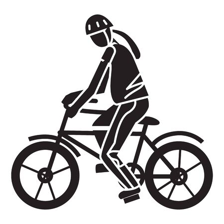Sport extreme bike icon. Simple illustration of sport extreme bike vector icon for web design isolated on white background