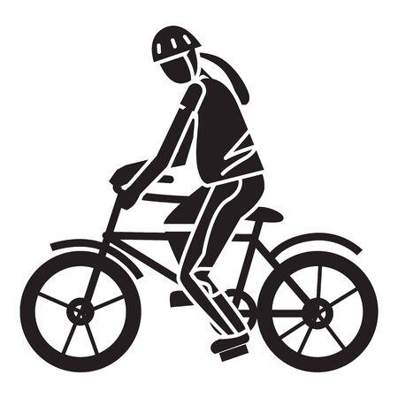 Sport extreme fiets icoon. Eenvoudige illustratie van sport extreme fiets vector pictogram voor webdesign geïsoleerd op een witte achtergrond
