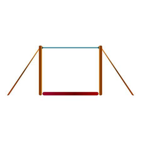 Gymnastic bar icon. Cartoon of gymnastic bar vector icon for web design isolated on white background Ilustração Vetorial