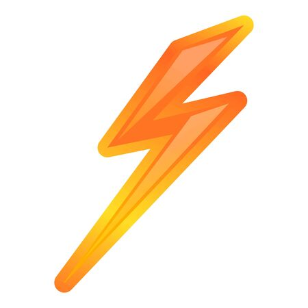 Nature lightning bolt icon. Cartoon of nature lightning bolt vector icon for web design isolated on white background