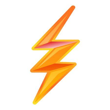 Lightning bolt icon. Cartoon of Lightning bolt vector icon for web design isolated on white background Ilustracja