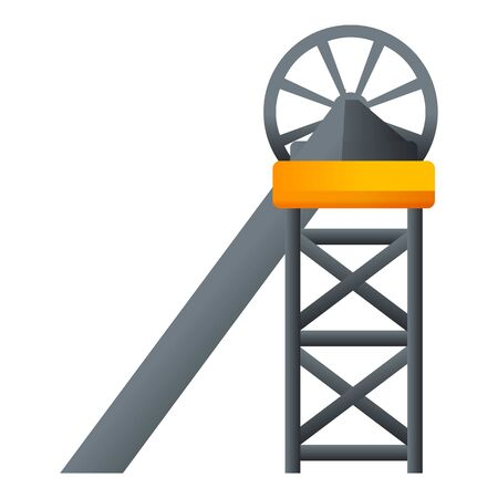Coal industry line icon. Cartoon of coal industry line vector icon for web design isolated on white background Ilustracje wektorowe