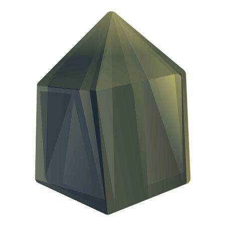 Coal stone icon. Cartoon of coal stone vector icon for web design isolated on white background Vektorové ilustrace