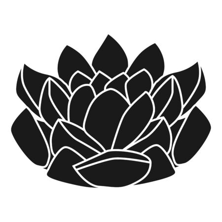 Houseplant succulent icon. Simple illustration of houseplant succulent vector icon for web design isolated on white background 矢量图像