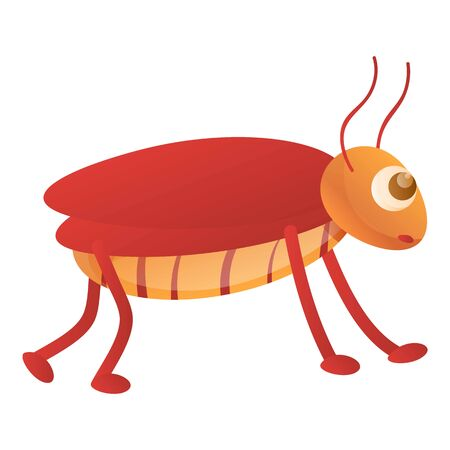 Cockroach icon. Cartoon of cockroach vector icon for web design isolated on white background