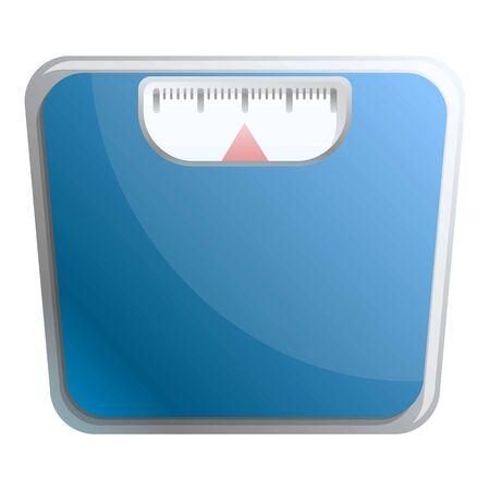 Weight scales icon. Cartoon of weight scales vector icon for web design isolated on white background