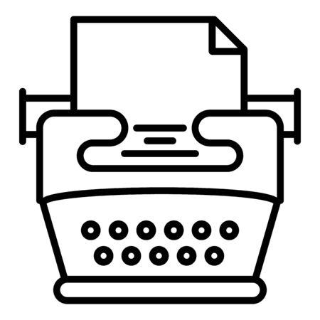 Nostalgia typewriter icon. Outline nostalgia typewriter icon for web design isolated on white background