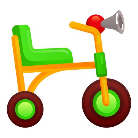 Kid tricycle icon. Cartoon of kid tricycle icon for web design isolated on white background