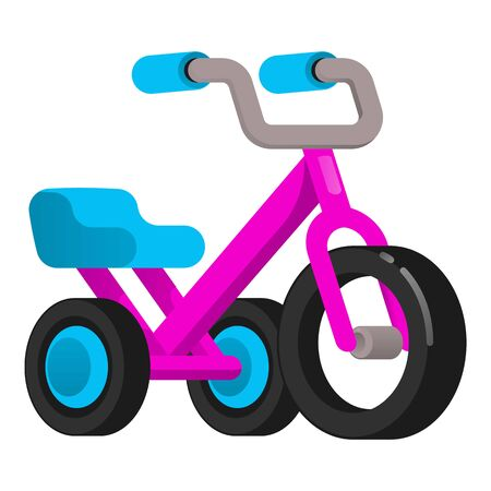 Metal tricycle icon. Cartoon of metal tricycle icon for web design isolated on white background