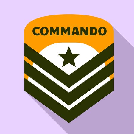 Commando air star logo. Flat illustration of commando air star logo for web design Banque d'images - 127181752