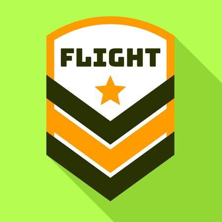 Star flight logo. Flat illustration of star flight logo for web design