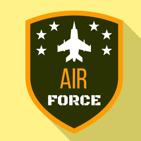 Fighter air force logo. Flat illustration of fighter air force logo for web design Banque d'images - 127183088