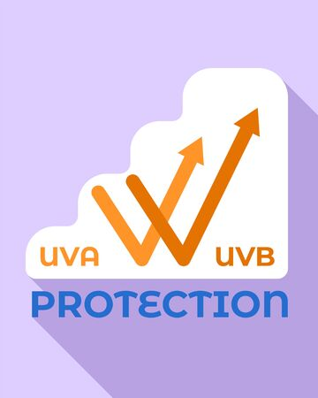 Uva protection logo. Flat illustration of uva protection logo for web design Banco de Imagens - 127177025