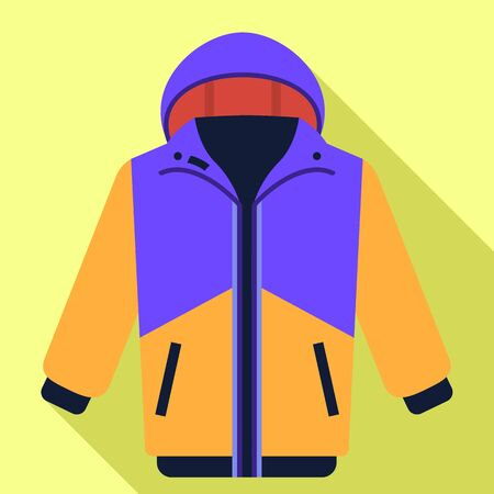 Ski jacket icon. Flat illustration of ski jacket icon for web design