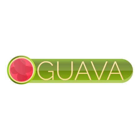 Cutted guava logo. Cartoon of cutted guava logo for web design isolated on white background 写真素材