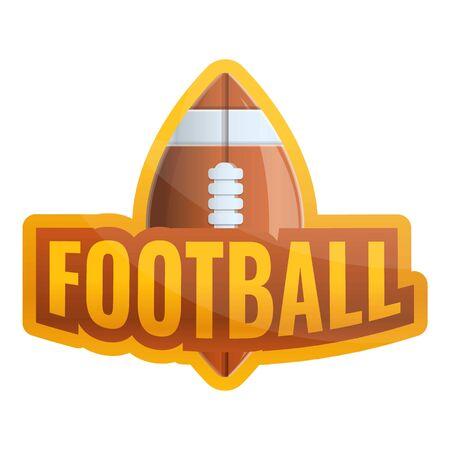 American football ball logo. Cartoon of american football ball logo for web design isolated on white background