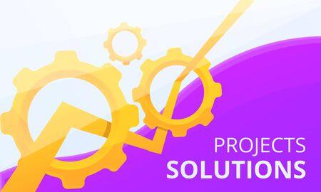 Project solution concept banner. Cartoon illustration of project solution concept banner for web design 写真素材