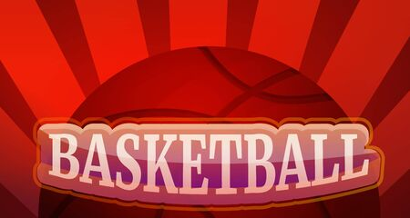 Basketball concept banner. Cartoon illustration of basketball concept banner for web design