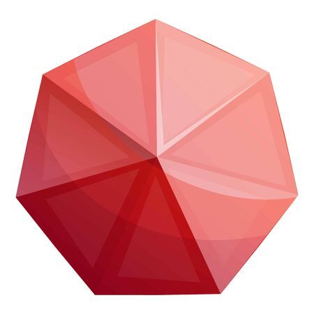 Magic red crystal icon. Cartoon of magic red crystal icon for web design isolated on white background 版權商用圖片
