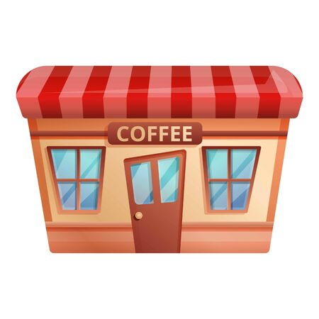 Coffee shop icon. Cartoon of coffee shop icon for web design isolated on white background