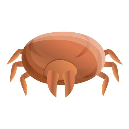Allergy mite icon. Cartoon of allergy mite icon for web design isolated on white background