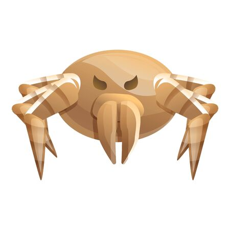 Sick mite icon. Cartoon of sick mite icon for web design isolated on white background