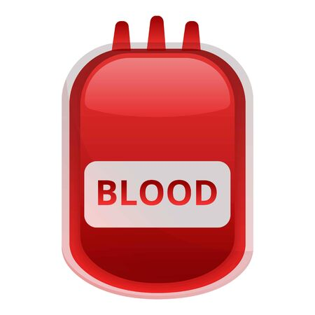 Blood package icon. Cartoon of blood package icon for web design isolated on white background