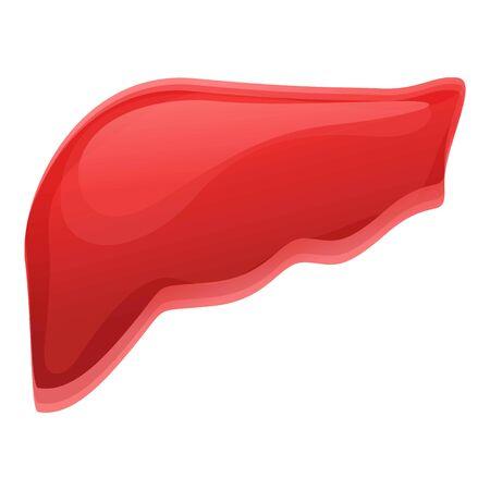 Icona del fegato umano. Cartoon di fegato umano icona per il web design isolato su sfondo bianco Archivio Fotografico