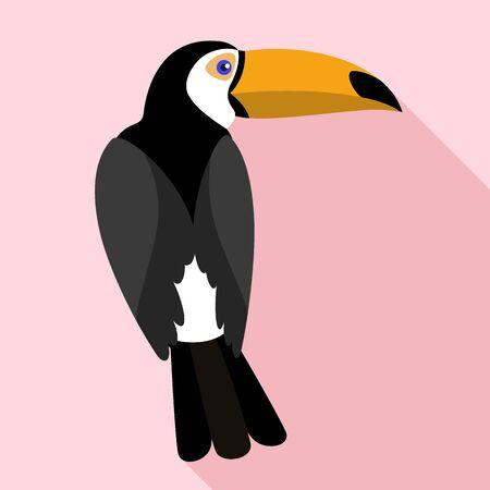 Toucan icon. Flat illustration of toucan icon for web design