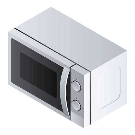Closed microwave icon. Isometric of closed microwave icon for web design isolated on white background