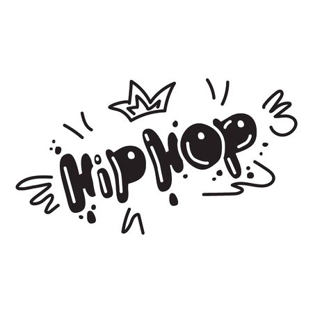 Hip hop icon. Simple illustration of hip hop icon for web design isolated on white background