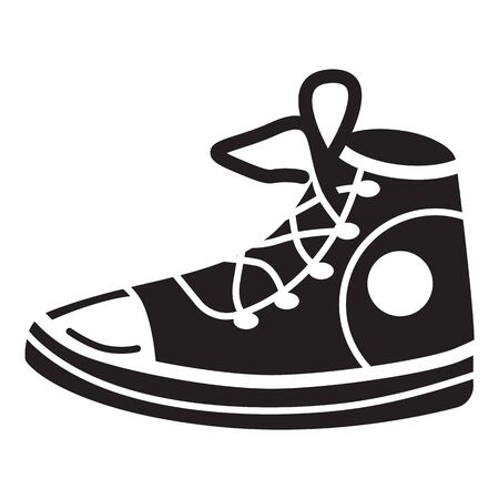 Sneakers shoes icon. Simple illustration of sneakers shoes icon for web design isolated on white background Stok Fotoğraf