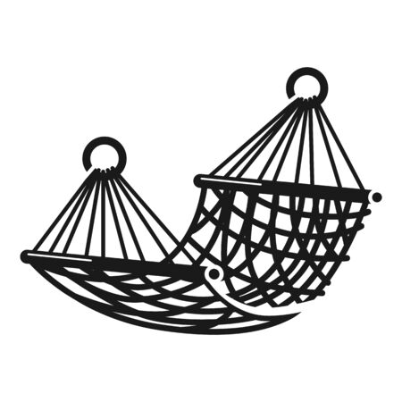 Tropical hammock icon. Simple illustration of tropical hammock icon for web design isolated on white background Reklamní fotografie