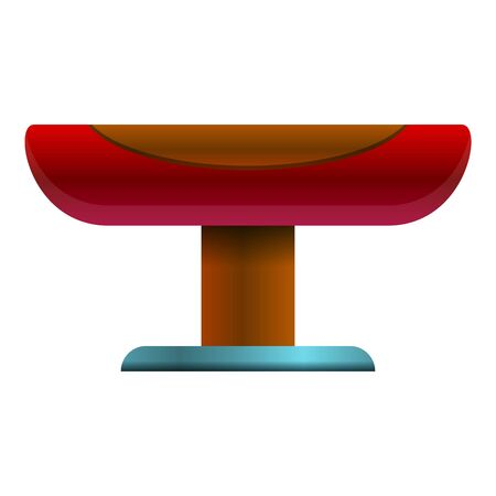 Sport pommel horse icon. Cartoon of sport pommel horse icon for web design isolated on white background Foto de archivo - 127709130