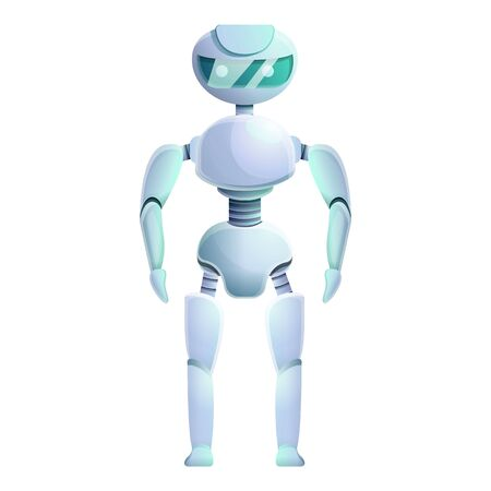 Bionic humanoid icon. Cartoon of bionic humanoid icon for web design isolated on white background