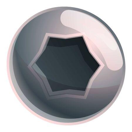 Torx internal screw head icon. Cartoon of torx internal screw head icon for web design isolated on white background