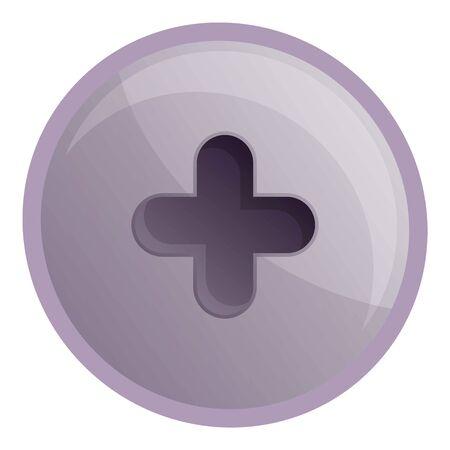 Torx metal screw head icon. Cartoon of torx metal screw head icon for web design isolated on white background Reklamní fotografie