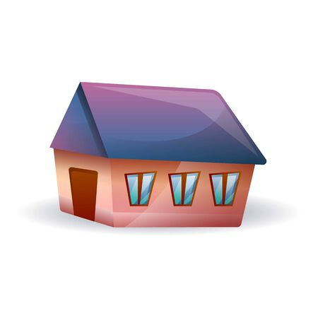 Village house icon. Cartoon of village house icon for web design isolated on white background