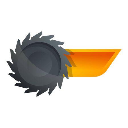 Coal cut wheel icon. Cartoon of coal cut wheel icon for web design isolated on white background