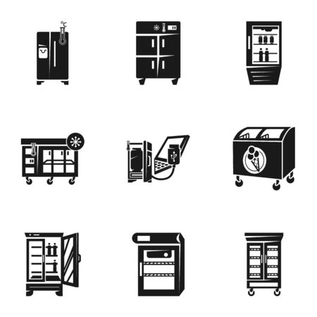 Freezer icon set. Simple set of 9 freezer vector icons for web design isolated on white background