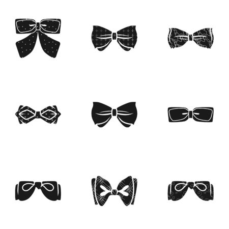 Elegant bow tie icon set. Simple set of 9 elegant bow tie vector icons for web design isolated on white background