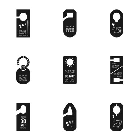 Door hanger tag icon set. Simple set of 9 door hanger tag vector icons for web design isolated on white background