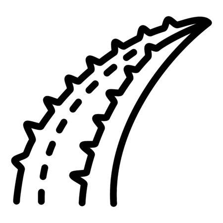 Aloe leaf plant icon. Outline aloe leaf plant vector icon for web design isolated on white background Ilustracja