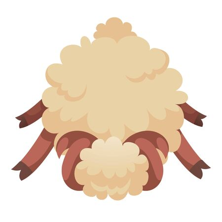 Tired sheep icon. Cartoon of tired sheep vector icon for web design isolated on white background