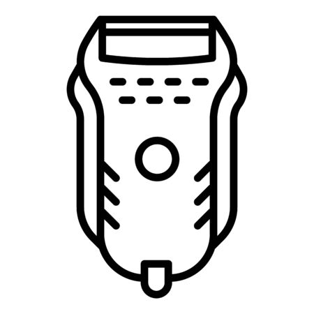 Electric shaver icon. Outline electric shaver vector icon for web design isolated on white background