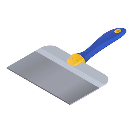 Construction spatula icon. Isometric of construction spatula vector icon for web design isolated on white background
