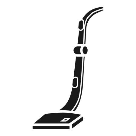 Icona del bastone dell'aspirapolvere. Semplice illustrazione dell'aspirapolvere stick icona vettoriali per il web design isolato su sfondo bianco Vettoriali