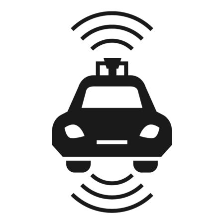 Driverless car icon. Simple illustration of driverless car vector icon for web design isolated on white background