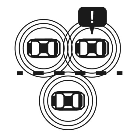 Road driverless cars icon. Simple illustration of road driverless cars vector icon for web design isolated on white background